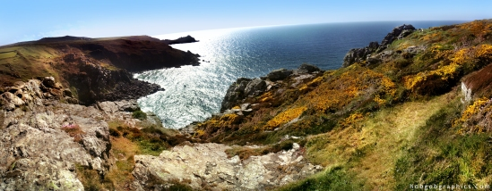 zennor coast mermaid sun gorse beautiful cornish atlantic