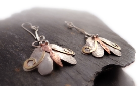 KSH Silver Moth Earrings - jewellery photography