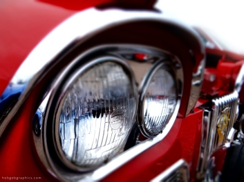Humber Sceptre car lights close up